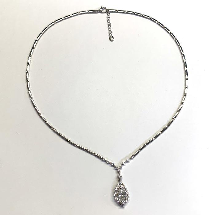 プラチナ ダイヤモンド 2.64ct マーキス ネックレスPt900 ペンダント ダイアモンド レディース プレゼント ギフト 記念日 誕生日