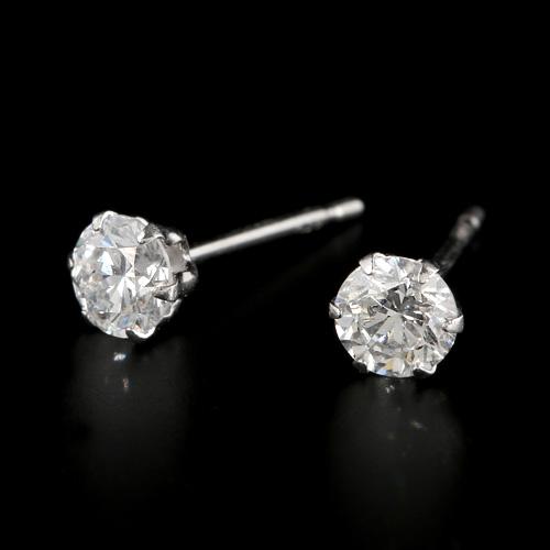 プラチナ ダイヤモンド0.5ct 1粒ピアス 0.5カラット PT900 1石 シンプル ダイアモンド レディース プレゼント ギフト 記念日 誕生日
