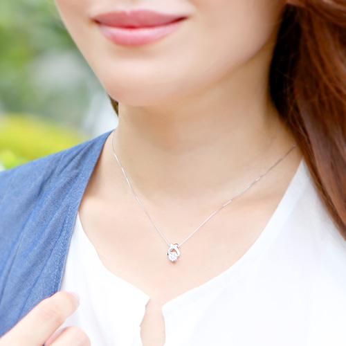 18金 ダイヤモンド ネックレス セブンストーンフラワー ペンダント 0.2ctカラット K18WG ホワイトゴールド K18PG ピンクゴールド ダイアモンド レディース プレゼント ギフト 記念日 誕生日