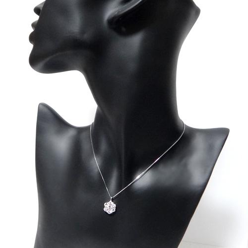 プラチナ ダイヤモンド1.5ct フラワーネックレス ペンダント 1.5カラット PT900 ダイアモンド レディース プレゼント ギフト 記念日 誕生日
