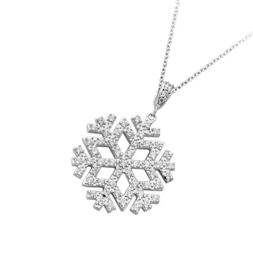 ロマンティックな煌めき 保証書付 分割可 送料無料 ラッピング無料 18金 ダイヤモンド 0.8ctネックレス 雪の結晶 スノー ペンダント 0.8カラット 記念日 ホワイトゴールド ダイアモンド プレゼント 特価 誕生日 ピンクゴールド K18WG K18PG レディース ギフト ご褒美 与え