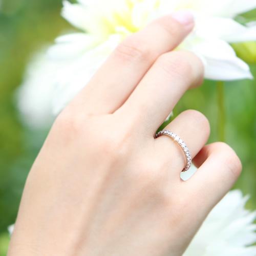 プラチナ ダイヤモンド0.5ct ハーフエタニティリング ハート&キューピッド H&Cカード付 PT900 指輪 0.5カラット ダイアモンド レディース プレゼント ギフト 記念日 誕生日