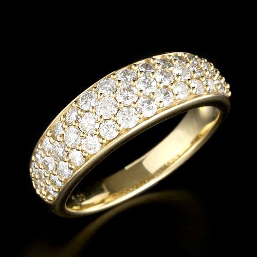 18金 ダイヤモンド1.0ct パヴェリング K18WG ホワイトゴールド K18YG イエローゴールド 指輪 ダイアモンド レディース プレゼント ギフト 記念日 誕生日