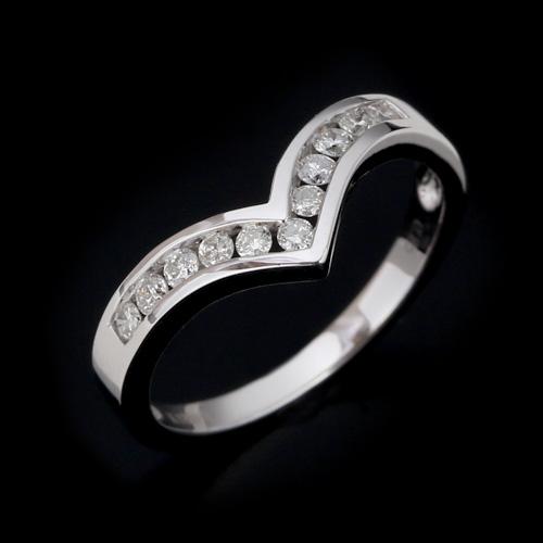 18金 ダイヤモンド0.25ct リング レール留め V字ライン 0.25カラット K18WG ホワイトゴールド 指輪 ダイアモンド レディース プレゼント ギフト 記念日 誕生日