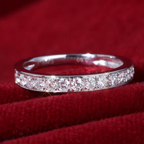 18金 ダイヤモンド0.5ct ハーフエタニティリング K18WG ホワイトゴールド K18PG ピンクゴールド 指輪 0.5カラット ダイアモンド レディース プレゼント ギフト 記念日 誕生日