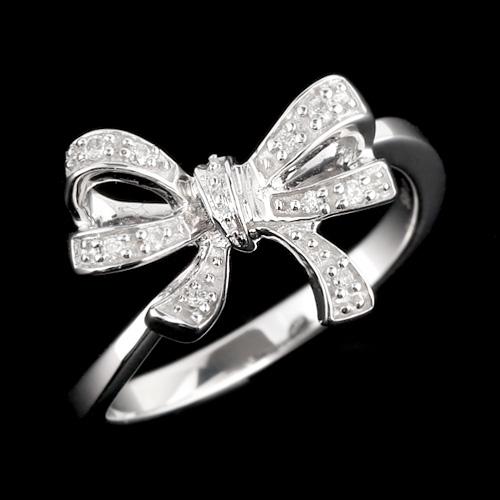 18金 ダイヤモンド0.05ct リボンリング K18WG ホワイトゴールド K18PG ピンクゴールド 指輪 ダイアモンド レディース プレゼント ギフト 記念日 誕生日