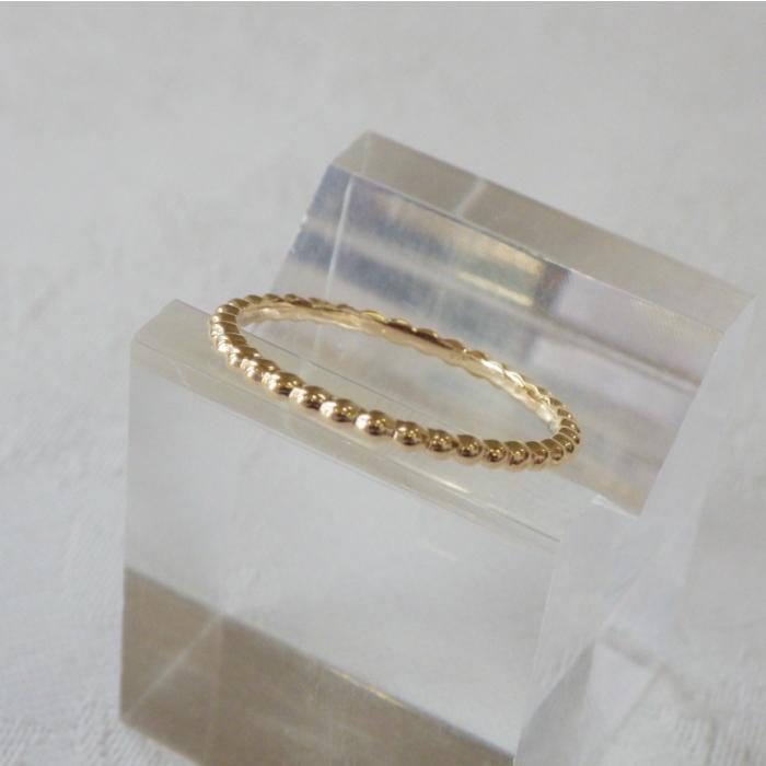 華奢なリング 重ねづけ K18YG 迅速な対応で商品をお届け致します プチプチリング 人気商品 幅1.5華奢なリング 18金 ピンキーリングゴールド 指輪