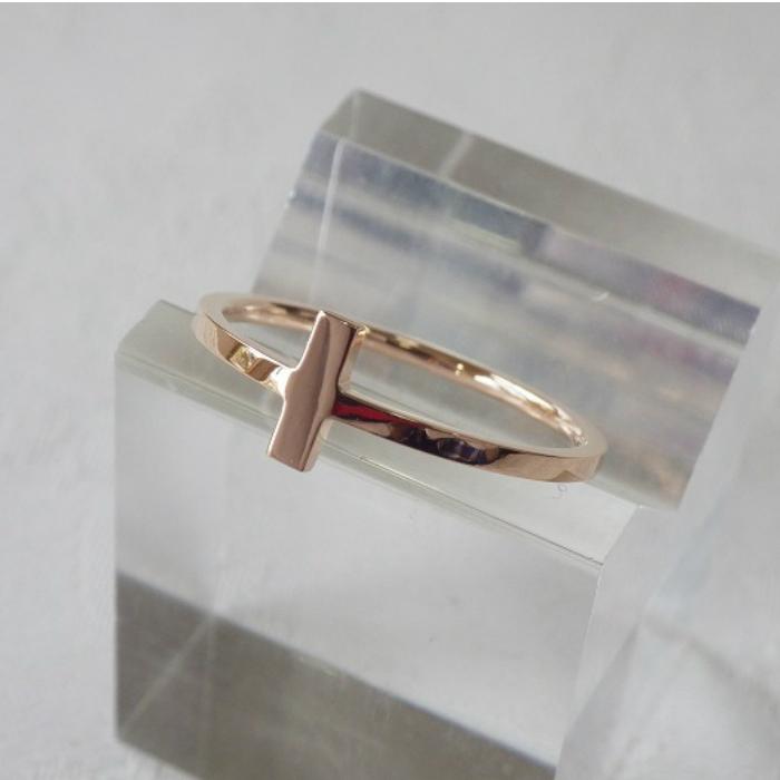 結婚祝い K18PG クロスリング 情熱セール 華奢なリング 18金 ピンキーリング ピンクゴールド クロス 十字 指輪