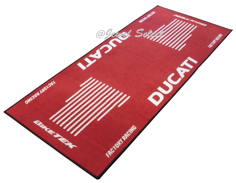 DUCATI ドゥカティ バイクマット ガレージに お部屋のインテリアマットとしても 190cm×80cm