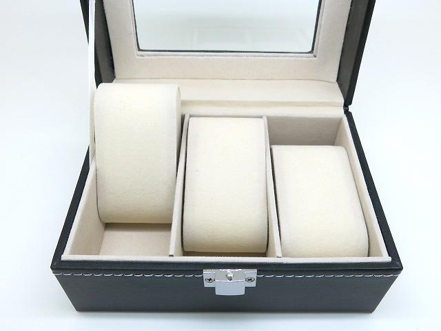 腕時計収納ボックス 3本収納 ブラック ギフト対応【あす楽対応_関東】
