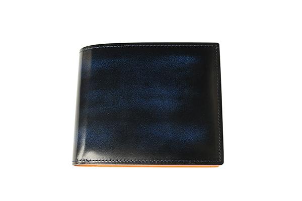 送料無料 二折財布 GREDEER アドバン 牛革 GCKA002S-Z ブルー ギフト対応