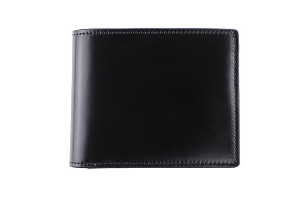 送料無料 二折財布 GREDEER コードバン 馬革(コードバン) GCKC106A-Z ブラック ギフト対応