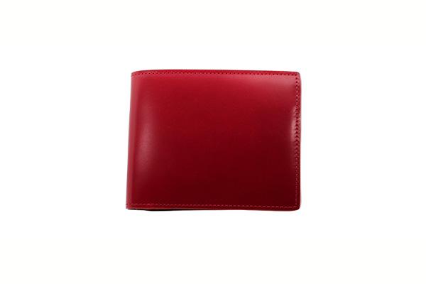 送料無料 二折財布 GREDEER コードバン 馬革(コードバン) GCKC106R-Z レッド ギフト対応