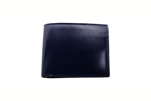 送料無料 二折財布 GREDEER コードバン 馬革(コードバン) GCKC106S-Z ブルー ギフト対応