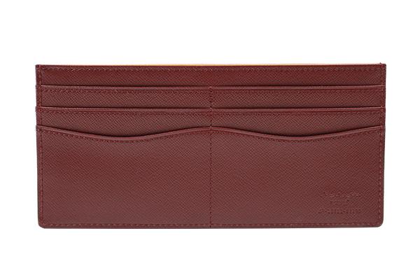 送料無料 薄型財布 さとりナチュラル 松阪牛革 HCK49E-Z 葡萄 ギフト対応