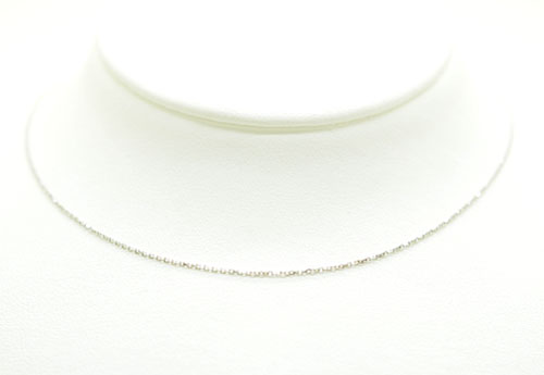 K18WG ホワイトゴールド アズキ ネックレス 40cm ギフト対応