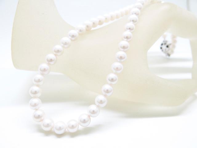 アコヤ真珠 シルバー925 クラスプ パール 連のネックレス 42cm ギフト対応【あす楽対応_関東】
