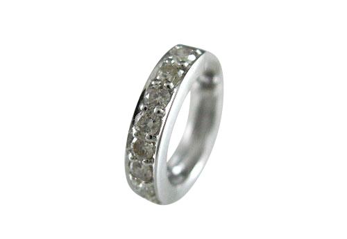 K18WG ホワイトゴールド ダイヤモンド ハーフエタニティー リングピアス片耳用 D0.25ct ギフト対応