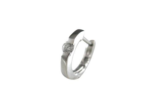 PT900 プラチナ ダイヤモンド リングピアス片耳用 D0.04ct ギフト対応
