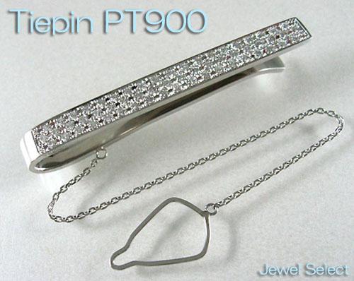PT900 プラチナ 無垢 ダイヤモンド ネクタイ タイバー タイピン D0.8ctup ギフト対応