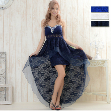 キャバドレス ロング キャバ ドレス テールカット キャバクラドレス Jewel ジュエル レース テールカットドレス