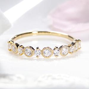 ダイヤモンドリング ファッション ジュエリー アクセサリー レディース 指輪 リング ダイヤ ダイヤモンド ホワイトゴールド ピンクゴールド イエローゴールド ミル打ち クラシカル アンティーク エタニティ 代引手数料無料 品質保証書