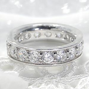 【3.0ct】ダイヤモンド フルエタニティ リング【Hカラー・SIクラス以上】指輪・リング・プラチナ・ダイヤ・3カラット・エタニティ・フチあり・プレゼント・エンゲージリング・婚約・ブライダル送料無料・代引手数料無料・品質保証書・刻印無料
