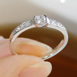 ダイヤモンドリング ファッション ジュエリー アクセサリー レディース 指輪 リング プラチナ ダイヤモンド エタニティ pt950 ダイアモンド 4月 誕生石 代引手数料無料  品質保証書 プレゼント 0.2カラット フチあり 大粒 ウェーブ