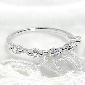 ファッション・ジュエリー・アクセサリー・レディース・指輪・リング・プラチナ・ダイヤモンド・ダイヤ・pt950・エタニティ・重ねづけ・ダイア・4月誕生石・送料無料・品質保証書付・ギフト・プレゼント・0.2ct・ダイヤモンドリング