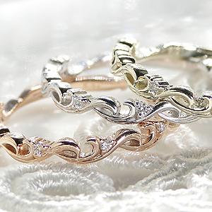 ファッション・ジュエリー・アクセサリー・レディース・指輪・リング・ホワイトゴールド・ピンクゴールド・イエローゴールド・K10・ダイヤモンド・代引手数料無料・送料無料・品質保証書・プレゼント・ギフト・重ねつけ・ミルフィーユ