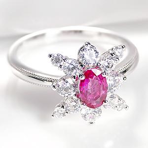 pt950 ルビー ダイヤモンドリングジュエリー アクセサリー レディース 指輪 リング プラチナ ルビーリング ダイヤモンド 人気 可愛い おしゃれ 7月誕生石 送料無料 品質保証書付 ギフト プレゼント 刻印無料 豪華 お守り