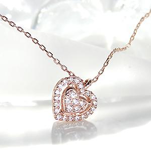 ファッション・ジュエリー・アクセサリー・レディース・ネックレス・ペンダント・ピンクゴールド・ダイアモンド・ダイヤモンド・K18・18金・4月誕生石・代引手数料無料・送料無料・品質保証書・プレゼント・ギフト・クリスマス・ハート・heart