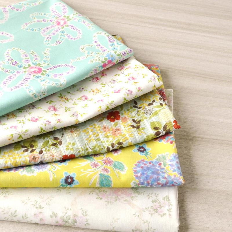 かわいいプリント生地 新作通販 裁縫 手芸 手作りが好きな方におすすめ 生地 布 プリント生地 布ナプキン 綿100% ハンドメイド 人気柄を集めました 布ナプキンの手作りにもおすすめ ジュランジェ 高額売筋