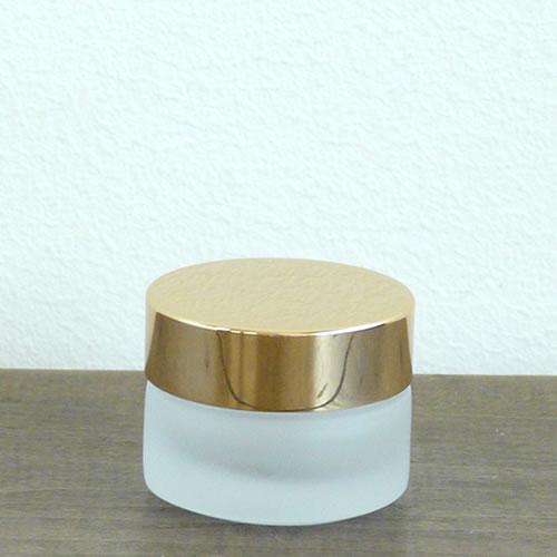 クリーム容器フロスト 金キャップ10g ガラス 容器 低価格化 ハイクオリティ 化粧