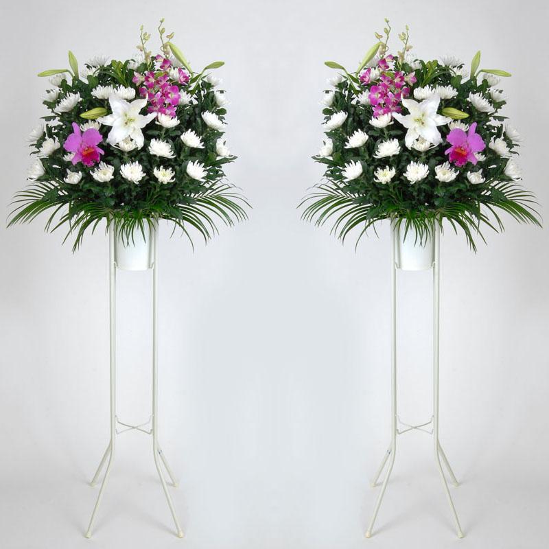 [お通夜・告別式の供花]地域風習や斎場の指定に合わせてお届致します。(FF-001-2)