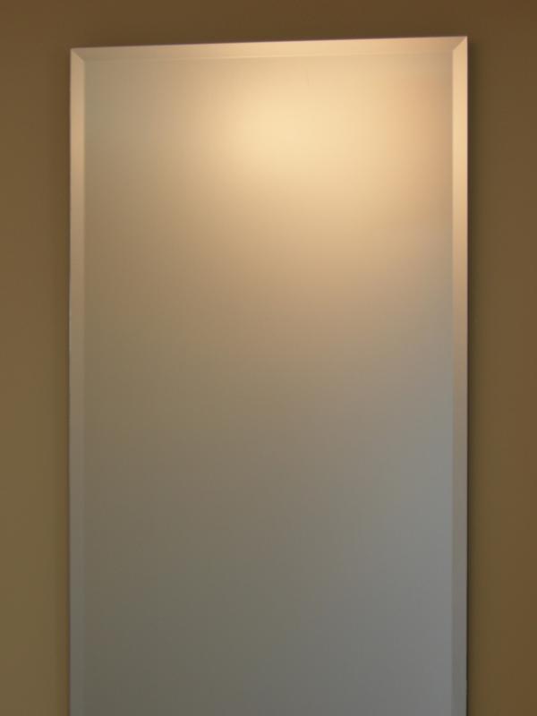 【送料無料】鏡 ミラー 壁掛け鏡 ウォールミラー【JHAインテリアミラー】《デラックス》 柄なし【飛散防止・壁掛け用】W400×H900(面取り:15ミリ幅)【完全防湿】CM-40X90MF(フレームレスミラー ノンフレーム 化粧鏡 玄関 洗面 トイレ 寝室 おしゃれ 店舗)