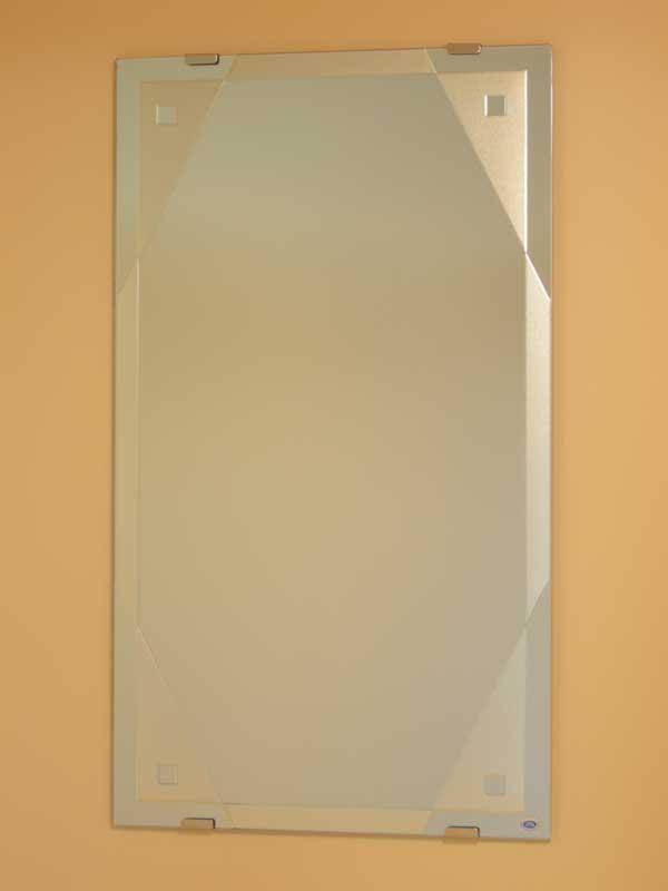 鏡 ミラー 洗面鏡 化粧鏡【JHAデザインミラー】 モダン4 W400×H700【ビス用】 EM-40X70Tb-M4 フレームレスミラー ノンフレーム 玄関 洗面 トイレ 寝室 おしゃれ 店舗 モダン スタイリッシュ シンプル 四角 エッチング