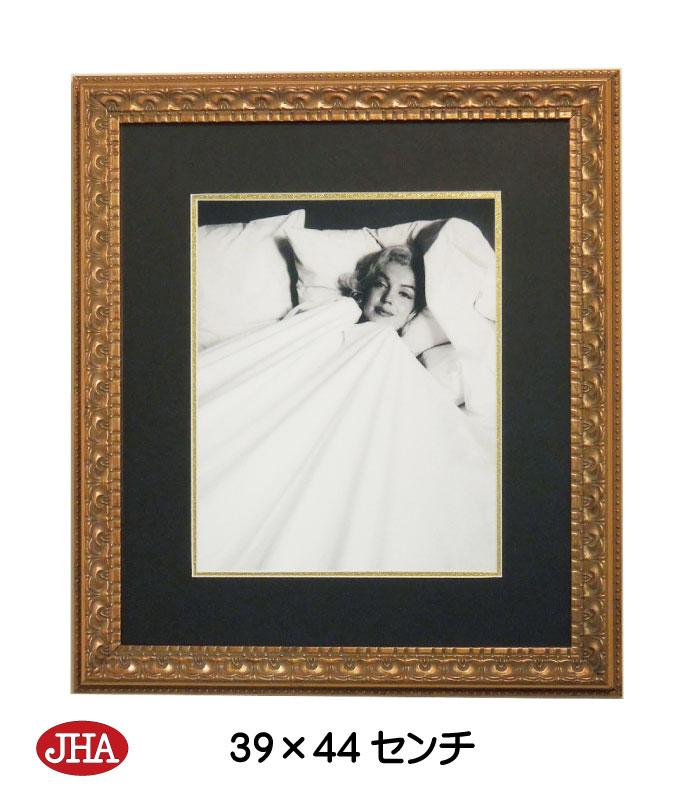 《新作》【送料無料】額絵 壁掛け【JHAアンティークフレーム】マリリン・モンロー8(アンティーク・ゴールドフレーム)W387×H437 AA-M-8GO アートフレーム アート額絵 ウォールアート インテリア壁飾り(玄関 リビング 寝室 おしゃれ 店舗)