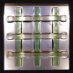 【JHAデザインガラス】 フュージング(熔着) FS-A2-Lサイズ (グリーン色)245X245【小窓用】ステンドグラス(おしゃれ 室内窓 FIX窓 ドア シンプル レトロ モダン 古民家 間仕切り壁 建具 キッチン リビング トイレ リフォーム 新築)