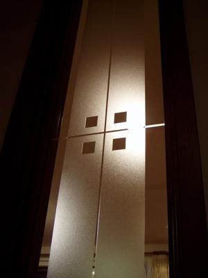 【JHAデザインガラス】 エッチングガラス(スリ) KC9(A)-大 295X1095(ガラスのみ)(おしゃれ 室内窓 小窓 FIX窓 ドア シンプル レトロ モダン 古民家 間仕切り壁 建具 キッチン リビング トイレ リフォーム 新築)