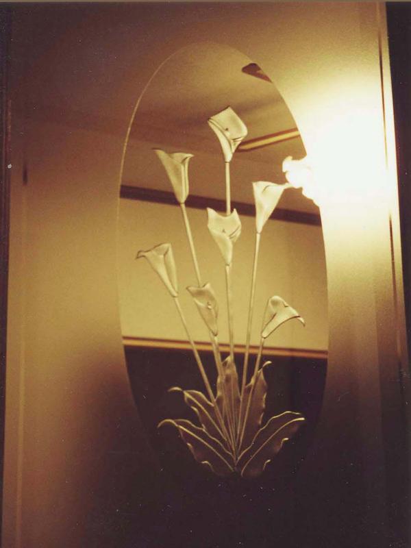 【JHAデザインガラス】 エッチングガラス(深彫り) ED-G4カラー-495X995ミリ(ガラスのみ)(おしゃれ 室内窓 FIX窓 ドア シンプル レトロ モダン 古民家 間仕切り壁 建具 キッチン リビング トイレ リフォーム 新築)