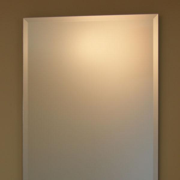 【送料無料】鏡 ミラー 壁掛け鏡 ウォールミラー【JHAインテリアミラー】《デラックス》 柄なし 【飛散防止・壁掛け用】W500×H700(面取り:15ミリ幅)【完全防湿】(フレームレスミラー ノンフレーム 化粧鏡 玄関 洗面 トイレ 寝室 おしゃれ 店舗)