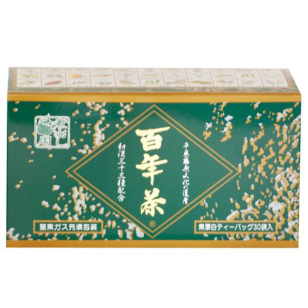 お気に入り 内祝い 自然草を煎じるお茶39ショップ対象 百年茶 緑箱 7.7g×30包 自然草 五味調和 ブレンド 漢方