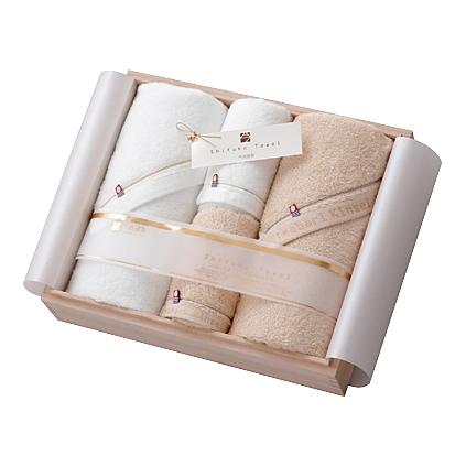 【送料込み】【送料無料】imabari towel japan(今治タオル)今治謹製 至福タオル 木箱入タオルセット【出産内祝いギフトに最適です。】【出産内祝い 送料無料】【内祝い お返し】