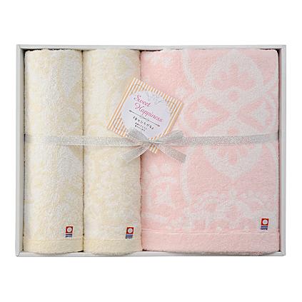 【送料込み】【送料無料】imabari towel japan(今治タオル)スウィートハピネス タオルセット【出産内祝いギフトに最適です。】【出産祝い 返礼 お返し お祝いのお返し 人気 おしゃれ】