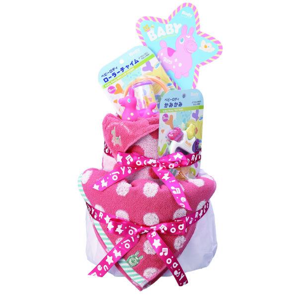 【送料込み】【送料無料】Rody(ロディ) おむつケーキ(レッド)【ベビーギフト 御出産御祝 出産御祝い キャラクター オムツケーキ】