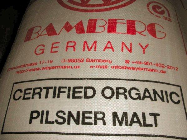 有機JASの登録外国認定機関 BCS OKO-GARANTIE 認定 送料無料 メーカー再生品 特別価格 25kg ピルス ドイツ産オーガニック麦芽 新生活