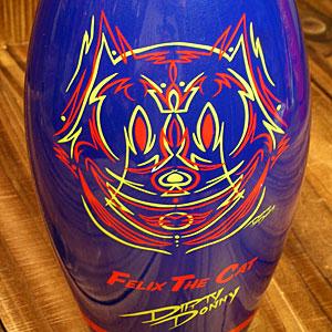 Felix the cat money box FELIX THE CAT bowling pin blue _ZZ-FX1-001