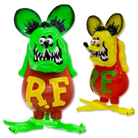 ラットフィンク フィギュア ソフビ ソフトビニール キャラクター アメリカ ホットロッド アメリカン雑貨 Vinyl Doll RatFink フローレセントカラー_FG-RAF507-MON