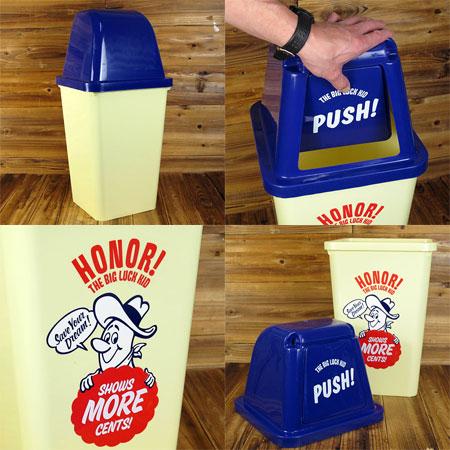 有BIG LUCK KID垃圾箱漂亮的盖子的摇动式美国杂货美国的杂货约20升_DB-002-SHO